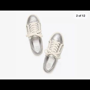 Tory Burch metallic ruffle Sneaker